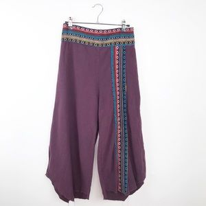 Gypsy rose embroidered wide leg pants